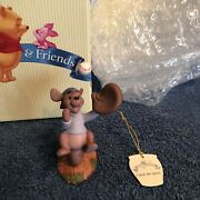 Pooh And Friends Catch The Spirit Roo Catching A Baseball Figurine