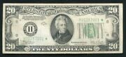 Fr. 2057-h 1934-c 20 Star Frn Federal Reserve Note St. Louis Mo Very Fine