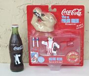 Coca Cola Dancing Polar Bears. In A Coke Bottle And Skiing Wind Up Bear Toys.