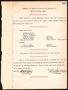 Thomas A. Edison - Corporate Minutes Signed 10/20/1920 With Co-signers