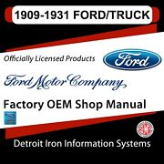 For Ford Model A 28-31 1909-1931 Ford Trucks And Cars Shop Manuals Sales Data And