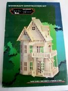 Woodcraft Construction Kit Gothic House 3d Wood Puzzle Dh-001 Nib Us Seller