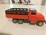 Vintage Haji Tin Friction Powered Live Stock Truck Made In Japan Old Tin Toy