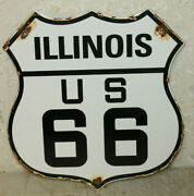 Illinois Us Route 66 Vintage Style Porcelain Highway Signs Man Cave Station