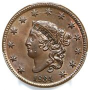 1834 N-1 Pcgs Ms 64 Bn Matron Or Coronet Head Large Cent Coin 1c