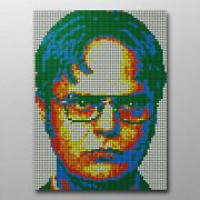 Dwight Schrute 713 Rubix Cube Mosaic Diy Puzzle Build Your Own Decor Craft Speed