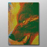Fiery Wolf 1160 Rubix Cube Mosaic Diy Puzzle Build Your Own Decor Craft Speed Cu