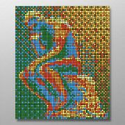The Thinker 480 Rubix Cube Mosaic Diy Puzzle Build Your Own Decor Craft Speed Cu
