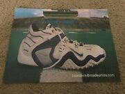 Vintage Nike Air Zoom Barry Sanders Cross Trainer Shoes Poster Print Ad 1990s