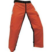 Forester Chainsaw Apron Chaps With Pocket Orange 37 Length By Forester