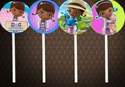 Doc Mcstuffins Cupcake Toppers 12 Pieces Cake Birthday Party Supply Favors 2side