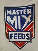 Master Mix Feed Tin Painted Collectable Seed Feed Sign
