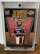 8/10 Gold Lebron James Jersey Kings Game Used Lakers Jersey Patch Bgs Psa Cond.