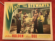 Meet The Stewarts 1942 Columbia 11x14 Lobby Card William Holden Frances Dee