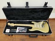 Fender American Deluxe Stratocaster Electric Guitar Brand New Aztec Gold