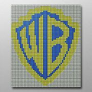 Warner Brothers Logo 304 Rubix Cube Mosaic Diy Puzzle Build Your Own Decor Craft