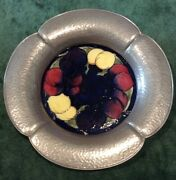 Moorcroft Pottery Tudric Pewter Mounted Tray Liberty And Co. England