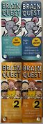 Lot Of 4 Brain Quest Decks Ages 3-4 Threes And Ages 7-8 Grade 2