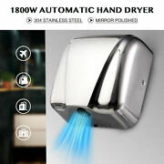 Stainless Steel Electric Hand Dryer Machine With Touchless Air Restroom Hygie