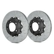For Porsche 911 14 Brake Rotors Gt Series Curved Vane Type Iii Slotted 2-piece