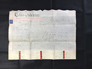 ⭐️1840 Antique Vellum Indenture Conveyance Of Lands For A Chapel. Many Involved.