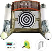 Inflatable Axe Throwing Game Inflatable Football Soccer Shooting Darts Board