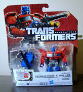 Transformers Generation 1 G1 Colors Chug Optimus Prime And Mini Roller Mosc Rare