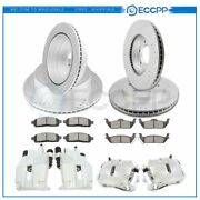 Front Rear Brake Rotors Calipers And Ceramic Pads For Ford F-150 Lincoln Mark Lt