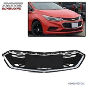 For Chevrolet Cruze 2016 2017 2018 Chrome And Black Front Bumper Lower Grille