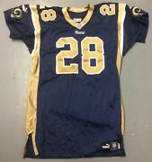 Marshall Faulk Game Issued St. Louis Rams Nfl Football Jersey Adult 50 Xl