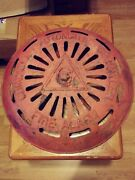 Huge 18 Antique Cast Iron Grinnell Automatic Sprinkler Fire Alarm Bell Cover