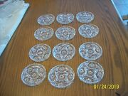 Anchor Hocking Hobstar Set Of 12 Prescut Clear Glass Coasters 3.75 Vintage Eapc