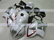 Fairing Fit For 1997-2007 Gsxr1300 White Silver Full Injection Plastics Set S10