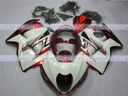 Fairing White Pearl Red Injection Plastic Kit Fit For 1997-2007 Gsx-r 1300r M57