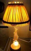 A Pair Of Unusual Vintage Murano Pulegoso Glass Table Lamps