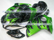 Fairing Green Flames Black Injection Mold Fit For 2008-2018 Suzuki Gsxr 1300 01