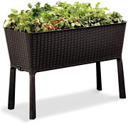 Keter Easy Grow 31.7 Gallon Raised Garden Bed With Self Watering Planter Box And