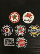 Vintage Lot Of Porcelain Magnetic 2 Signs - Includes Buick Chevy Ford Mobil