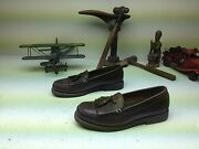 Brown Polo Stitched Tassle Loafer Boat Canoe Driving Shoes Sz 10 D
