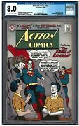 Action Comics 255 Cgc 8.0 8/59 Dc Off-white To White Pages