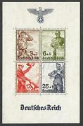 German Reich Stamps 194 Private Sheet Or Proof Sheet Mnh Vf