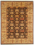 9x12 Hand Knotted Wool Large Area Rug Handmade And039himaniand039 Oriental Black Carpet