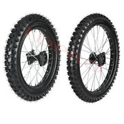 Front 70/100-19 + Rear 90/100-16 Tire Rim Wheel Assembly For Dirt Pit Bikes Kx