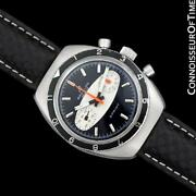 1968 Breitling Sprint Vintage Pilots Surfboard Panda Dial Chronograph -andnbspss