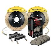 For Audi S4 10-16 Stoptech Performance Drilled 2-piece Front Big Brake Kit
