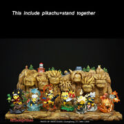 Made Studio Naruto Pikachu Cos Hokage Stand Base Rock Figure In Stock 7pcs+stand