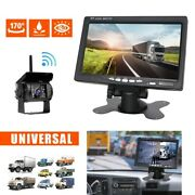 7 Wireless Ir Rear View Back Up Camera Night Vision System Monitor For Rv Truck