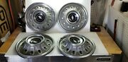 Vintage 14 Chevy Hubcaps From 1960-1970 Era