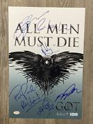 Game Of Thrones Cast Signed / Autographed 12x18 Photo 7 Signatures Psa/loa