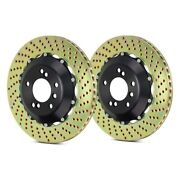 For Porsche 911 01-11 Brembo Gt Series Cross Drilled 2-piece Front Brake Rotors